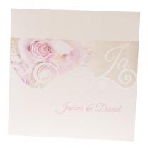 Romantische Hochzeitskarten auf edlem Metallickarton