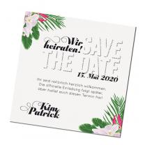 """Save the Date Karten """"Hochzeit - Hawaii"""" im modernen Design"""