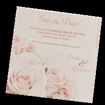"""Romantische Save the Date Karten """"Rosenhochzeit"""""""