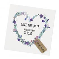 "Save the Date Karten ""Blütenzauber"" im trendigen Design"