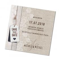 """Save-the-Date-Karte """"Landhaus"""""""
