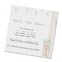 "Save the Date Karten ""Green Wedding"""