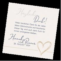 """Save the Date Karte """"Blau"""" aus Perlmuttkarton mit edler Goldfolienprägung"""