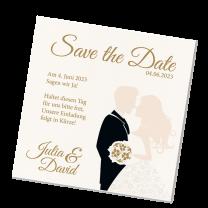 """Save the Date Karten """"Brautpaar"""" im modernen Design"""