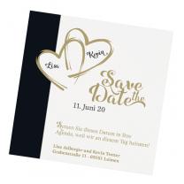 """Save the Date Karten """"Schwarze Eleganz"""" im edlen Design"""