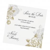 """Edle Save the Date Karten """"Vintage"""" im festlichen Design"""