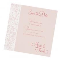 Save the Date Karten auf schimmerndem Metallickarton