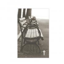 """Sterbebilder / Trauerbildchen """"Bank"""" mit stimmungsvollem Park-Motiv"""