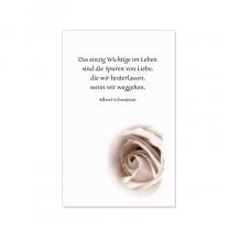 """Sterbebilder / Trauerbildchen """"Rosenblüte"""""""