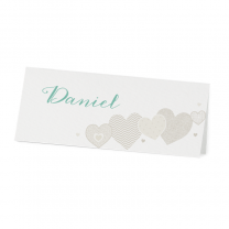 """Tischkarten """"Herzen"""" in romantisch-verspieltem Design"""