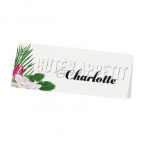 """Tischkarten """"Hawaii"""" mit hübschen Blumenmotiv"""