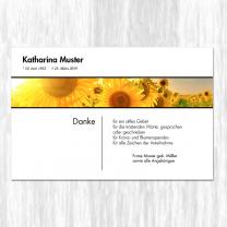 """Trauerdanksagungen """"Sonnenblumen"""" mit stimmungsvollem Motiv"""