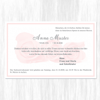 """Trauerdanksagungen """"Rosen"""" auf Premiumkarton"""