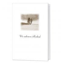 """Trauerkarten """"Baum"""" mit stimmungsvollem Landschaftsmotiv"""