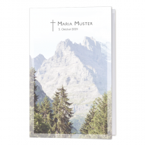 """Stimmungsvolle Trauerkarten """"Berg"""" im modernen Design"""