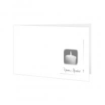 """Klassische Trauerkarten """"Kerze"""" im stimmungsvollen Design"""