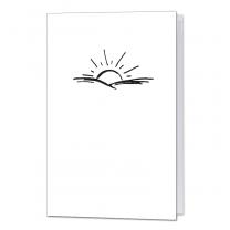 """Trauerkarten """"Sonne"""" auf weißem Premiumkarton"""