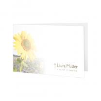 """Trauerkarten """"Sonnblumen"""" im harmonischen Design"""