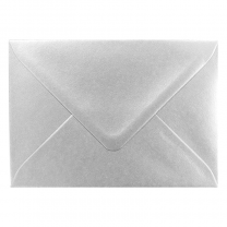 Silberne Kuverts & Briefumschläge mit Nassklebung (18,5 x 12 cm)