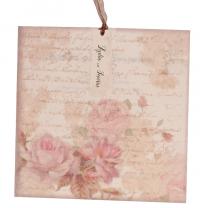 """Einladungskarten """"Vintage & Rosen"""" im romantischen Design"""