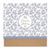 Vintage Hochzeitseinladungen mit floralem Design