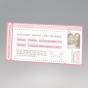 """Ausgefallene Hochzeitseinladungen """"VIP-Ticket"""" - Gestaltungsbeispiel Ticket-Vorderseite"""