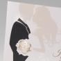 Ausgefallene Hochzeitseinladungen Brautpaar - Detailansicht