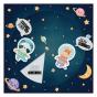 """Ausgefallene Geburtskarten """"Astronaut"""" - Gestaltungsbeispiel"""