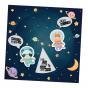 """Ausgefallene Geburtskarten """"Astronaut"""" im raffinierten Design"""