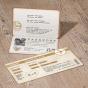 """Ausgefallene Hochzeitseinladung """"Ticket"""" - Gestaltungsbeispiel Karteninnenseiten"""