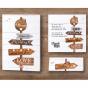 Moderne Menükarten - Mögliches Kartenzubehör