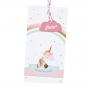 """Babykarte """"Einhorn"""" auf schimmerndem Metallickarton & hübscher Herzapplikation"""
