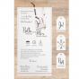"""Belarto Hochzeitseinladungen """"Traumfänger"""" - Gestaltungsbeispiel Karteninnenseiten"""