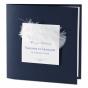 """Blaue Einladungskarten """"Feder"""" im klassischen Design"""