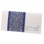 """Blaue Einladungskarten """"Perle"""" auf schimmerndem Metallickarton"""