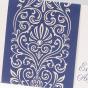 """Blaue Einladungskarten """"perle"""" - Detailansicht"""