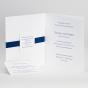 Blaue Hochzeitseinladung - Gestaltungsbeispiel Karteninnenseiten