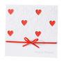 Charmante Hochzeitseinladungen mit rotem Einlegeblatt