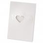 """Dankkarte """"Herz"""" aus strukturiertem Aquarellkarton mit glänzender Reliefprägung und charmanter Herzstanzung"""