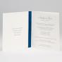 """Edle Einladungskarten """"Blau"""" - Gestaltungsbeispiel Karteninnenseite"""