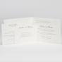 Edle Hochzeitseinladungen - Gestaltungsbeispiel Karteninnenseiten mit Einsteckkarten