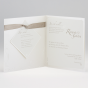 Edle Hochzeitseinladungen - Gestaltungsbeispiel Karteninnenansicht