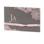 """Edle Einladungskarten """"Rosé"""" im trendigen Taschenlook mit luxuriöser Folienprägung"""