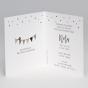 Edle Geburtskarten -  Gestaltungsbeispiel Karteninnenseite