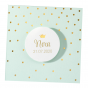 """Edle Geburtskarten """"Krone"""" mit eleganter Goldfolienprägung"""
