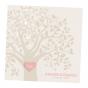 Edle Hochzeitseinladungen mit charmanter Herzstanzung und festlicher Goldfolienprägung