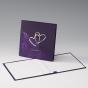 """Edle Hochzeitskarten """"Flieder"""" - Karteninnenansicht"""