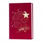 """Edle Weihnachtskarten """"Rot"""" mit edler Goldfolienprägung und hübscher Holzapplikation """"Stern"""""""