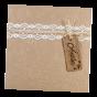 """Luxuriöse Einladungen """"Holz-Optik"""" mit personalisiertem Holzanhänger"""