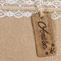 """Luxuriöse Einladungen """"Holz-Optik"""" - Detailansicht"""